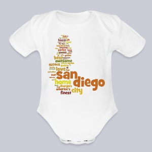 San Diego Words - Short Sleeve Baby Bodysuit