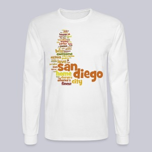 San Diego Words - Men's Long Sleeve T-Shirt