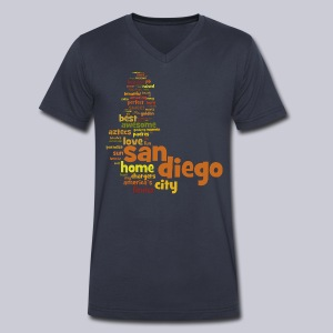 San Diego Words - Men's V-Neck T-Shirt by Canvas
