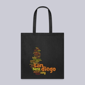 San Diego Words - Tote Bag