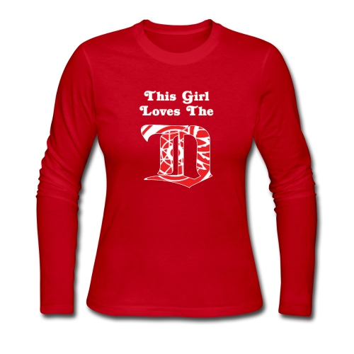 This Girl Loves the D - Red LS - Women's Long Sleeve Jersey T-Shirt