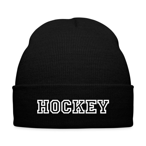 Hockey Cap  - Knit Cap with Cuff Print