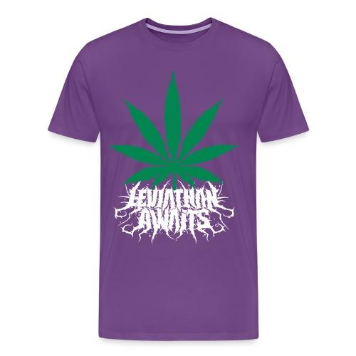 Pot Leaf With logo - Men's Premium T-Shirt