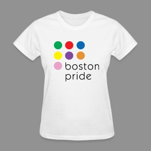 Boston Pride Women's T-Shirt, full color logo - Women's T-Shirt