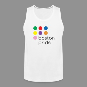 Boston Pride Premium Tank Top, full color logo - Men's Premium Tank