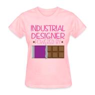 Women's T-Shirts ~ Women's T-Shirt ~ Industrial Designer Womens T-shirt (Funny Chocolate)