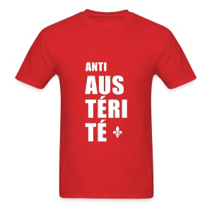 Anti AUSTÉRITÉ - T-shirt pour hommes