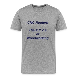 XYZs of Woodworking - Men's Premium T-Shirt