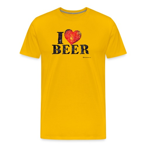 I Love Beer Distressed Men's Premium T-Shirt - Men's Premium T-Shirt