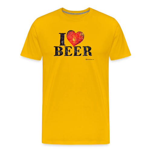 I Love Beer Distressed Men's Premium T-Shirt - Men's Premium T-Shirt