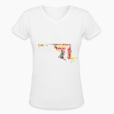 All Time Maryland Basketball Greats Women's V-Neck