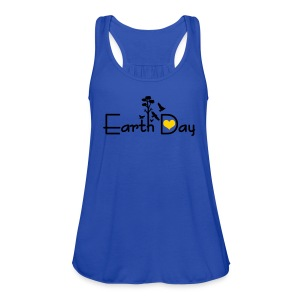 Earth day Women's Flowy Tank Top by Bella - Women's Flowy Tank Top by Bella