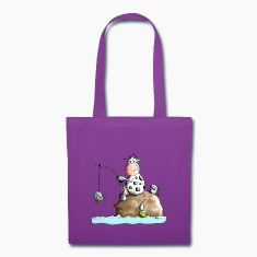 Funny Fishing Cow  Bags & backpacks