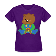 Women's T-Shirts ~ Women's T-Shirt ~ Autism Puzzle Ribbon Womens T-shirt