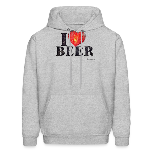 I Love Beer Distressed Men's Hoodie - Men's Hoodie