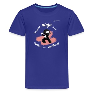 Password Ninja white - Kids' Premium T-Shirt