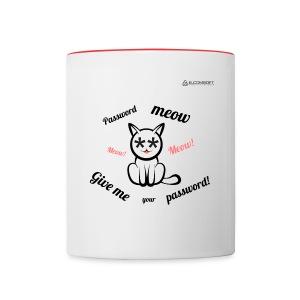 Password Meow - Contrast Coffee Mug