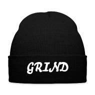 Caps ~ Knit Cap with Cuff Print ~ I Grind