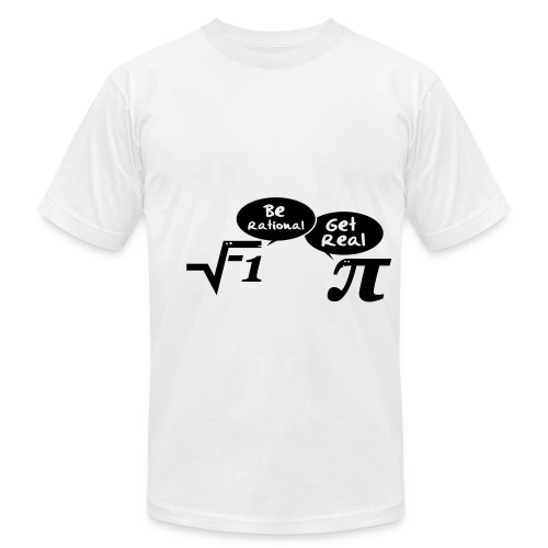 get real males math  - Men's Fine Jersey T-Shirt