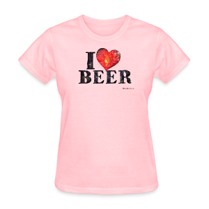 I Love Beer Distressed Women's T-Shirt - Women's T-Shirt
