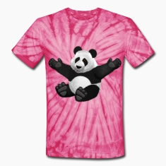 3D Fluffy Panda Bear T-Shirts