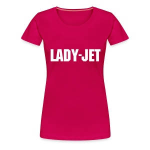 LADY JET WHITE LETTERS  - Women's Premium T-Shirt