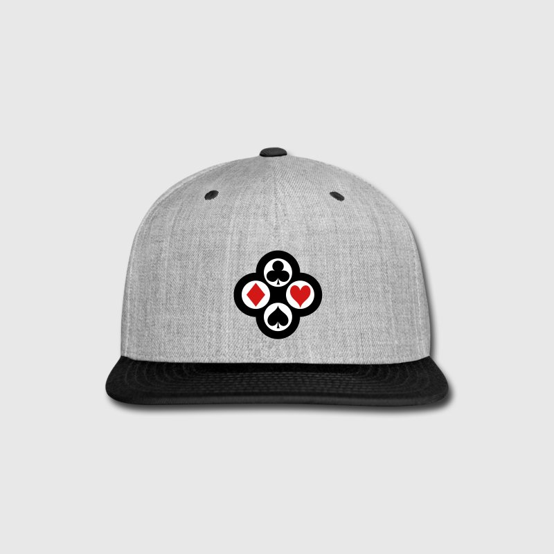Poker Suits Circle Cap Vector - Snap-back Baseball Cap