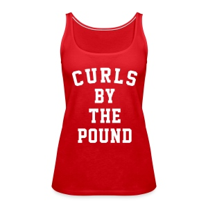 Curls by the pound tank - Women's Premium Tank Top