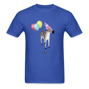 Annoyed Birthday Zebra - Men's T-Shirt