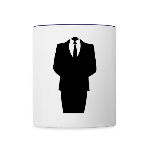 anonymous human mug - Contrast Coffee Mug