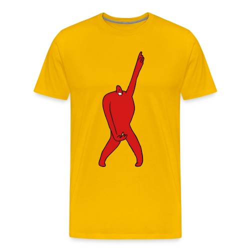 Fatawesome Monster (yellow) - Men's Premium T-Shirt