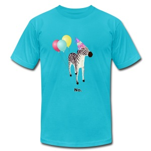 Annoyed Birthday Zebra (American Apparel) - Men's T-Shirt by American Apparel