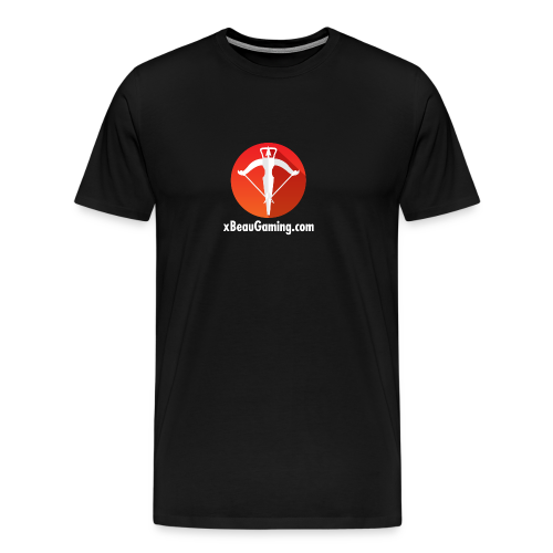 xBeauGaming Logo with URL - Men's Premium T-Shirt