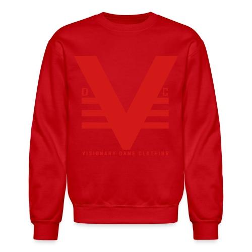 Red on Red Visionary Dame Original Crewneck - Crewneck Sweatshirt