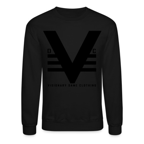 Black on Black Visionary Dame Clo. Crewneck - Crewneck Sweatshirt