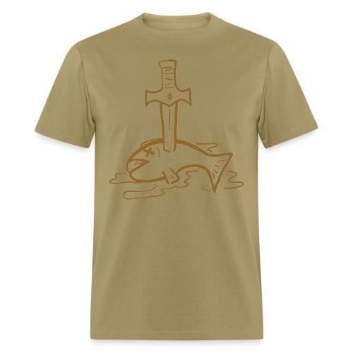 Sword + Fish - Men's T-Shirt