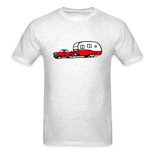 vintage trailer car retro shasta camper - Men's T-Shirt