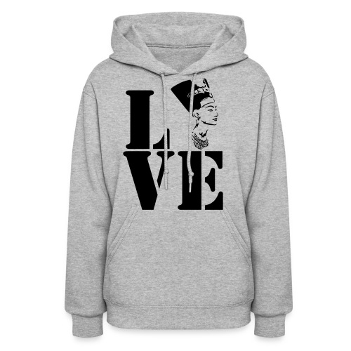 Women's Hoodie - #love #blacklove #africa #egypt #hoodies #peace #natural #black #blackhair
