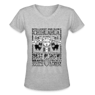T-Shirts ~ Women's V-Neck T-Shirt ~ Women's Chihuahua 'Best in Show' T shirt