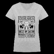 Women's T-Shirts ~ Women's V-Neck T-Shirt ~ Women's Chihuahua 'Best in Show' T shirt