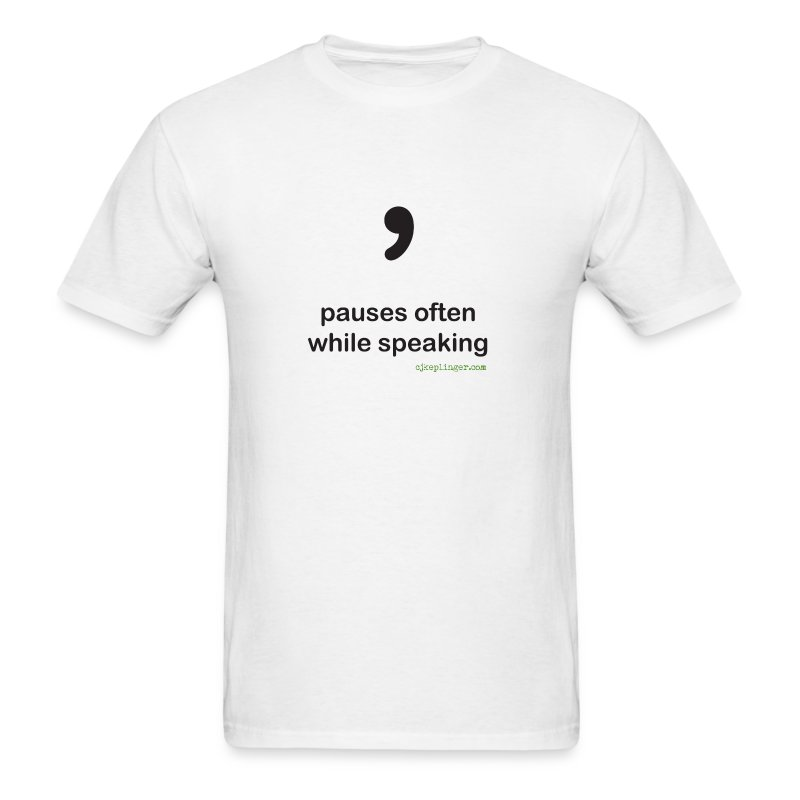Punctuation Personality: Comma Tee - Men's T-Shirt