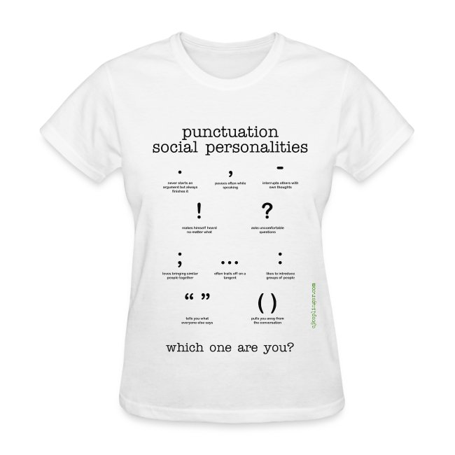 Punctuation Social Personalities v-neck tee