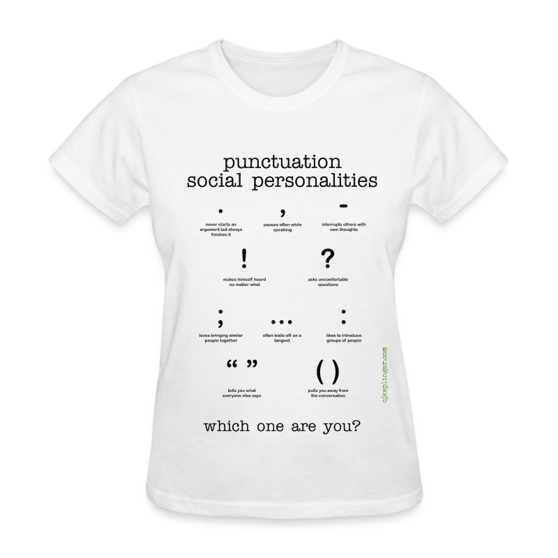 Punctuation Social Personalities v-neck tee - Women's T-Shirt