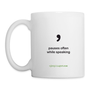 Punctuation Personality: Comma Mug - Coffee/Tea Mug