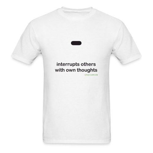 Punctuation Personality: Dash Tee - Men's T-Shirt