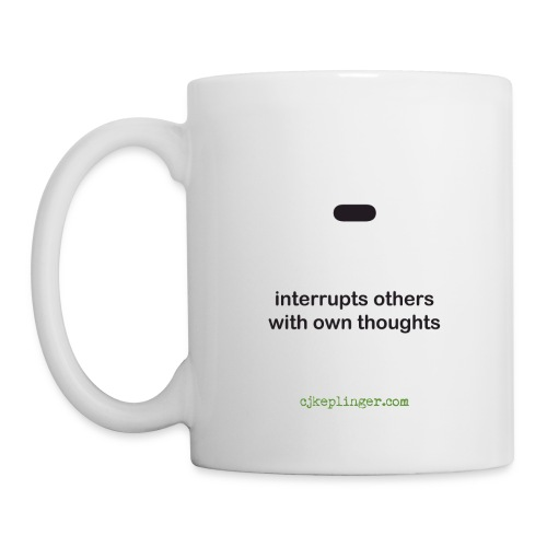 Punctuation Personality: Dash Mug - Coffee/Tea Mug