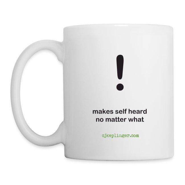 Punctuation Personality: Exclamation Mug