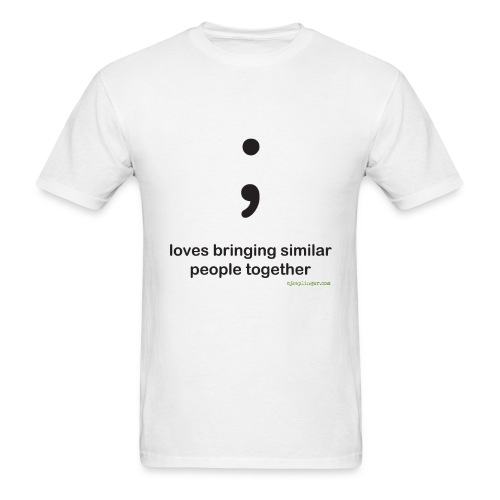 Punctuation Personality: Semicolon Tee - Men's T-Shirt