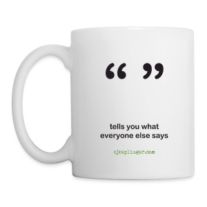 Punctuation Personality: Quotes Mug - Coffee/Tea Mug