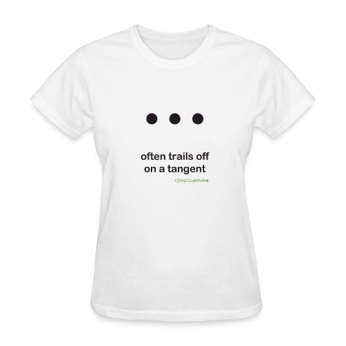 Punctuation Personality: Ellipses fitted tee - Women's T-Shirt